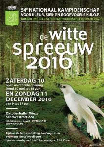 Witte Spreeuw 2016 in Wieze