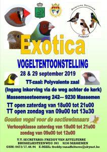 Fotoreportage keuring : Exotica van 28 & 29 september 2019