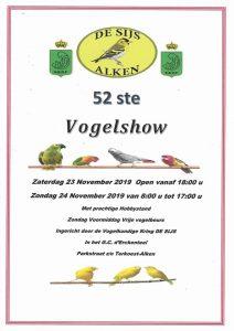 Tentoonstelling : De Sijs Alken 23 en 24 november 2019